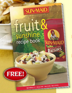 Free Sun Maid Fruit and Sunshine Recipe Book