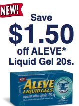 Save with Aleve