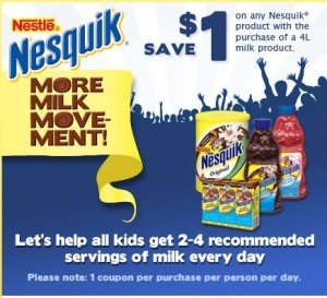 Save with Nestle's Nesquik