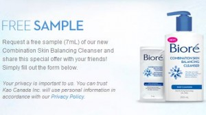 Biore Cleanser Sample
