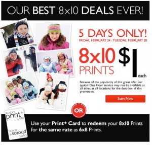 Blacks 8x10 prints for a buck