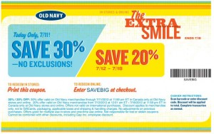 Save 20 off at Old Navy