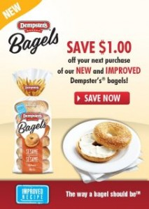 Save on Dempsters Bagels