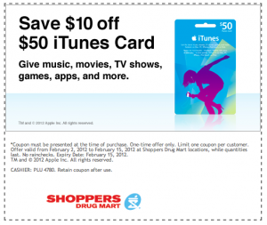 Save on a iTunes Gift Card at Shoppers