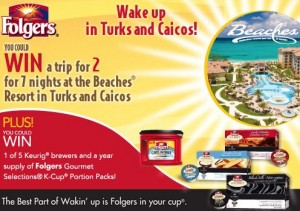 Wake Up in Turks and Caico with Folgers