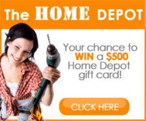 Win a 500 Home Depot Gift Card