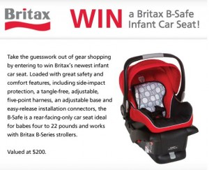 Win a Britax B Safe Car Seat