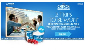 Win a Trip to Greece with Danone