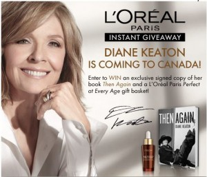 L'Oreal Diane Keaton Instant Giveaway