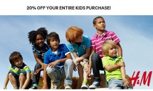 Save 20 off at HM Kids Clothes