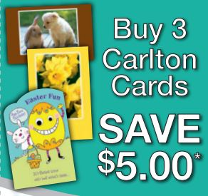 Save 5 at Carlton Cards