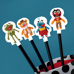 Free Muppet Pencil Toppers