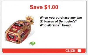 Save 1 on Dempster WholeGrains Bread