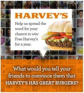 Help Spread the Word for Harvey's Burgers