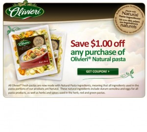 Save 1 on Olivieri Pasta