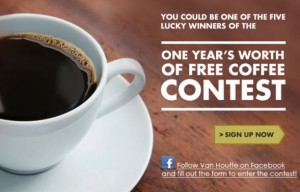 Win Free Coffee for a Year with Van Houtte
