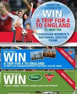 Win a Soccer Trip to England
