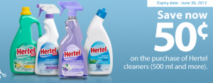 Save 50 cents on Hertel Cleaners