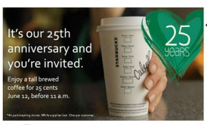 Starbucks 25 Years