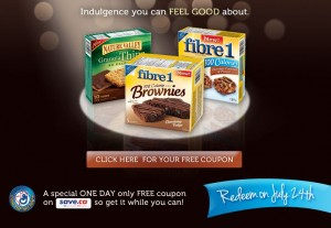 Free Coupon for Nature Valley and Fibre 1 Bars