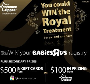 Win the Babies R Us Royal Treatment