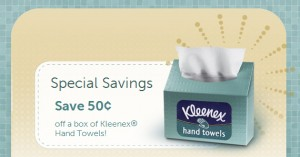 Save 50 cents on Kleenex Hand Towels