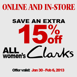 Shoe Co Clark's Shoes Coupon