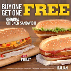 BOGO Burger King Chicken Sandwiches