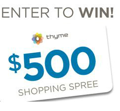 Enter to Win with Thyme