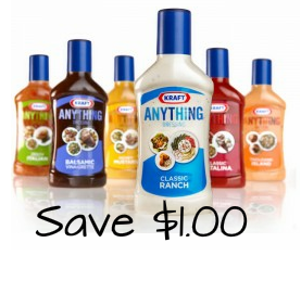 get a coupon to Save $1.00 on KRAFT Anything Dressing