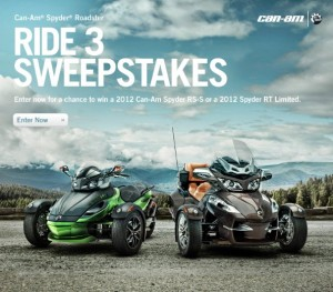 Get in to WIN a Can-Am Spyder
