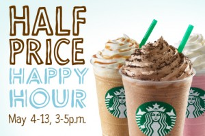 Half Priced Happy Hour Frappuccino at Starbucks